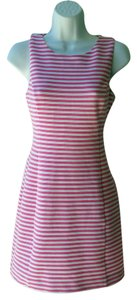 Lilly Pulitzer short dress Pink Beach Striped Cut-out Festival Preppy on Tradesy
