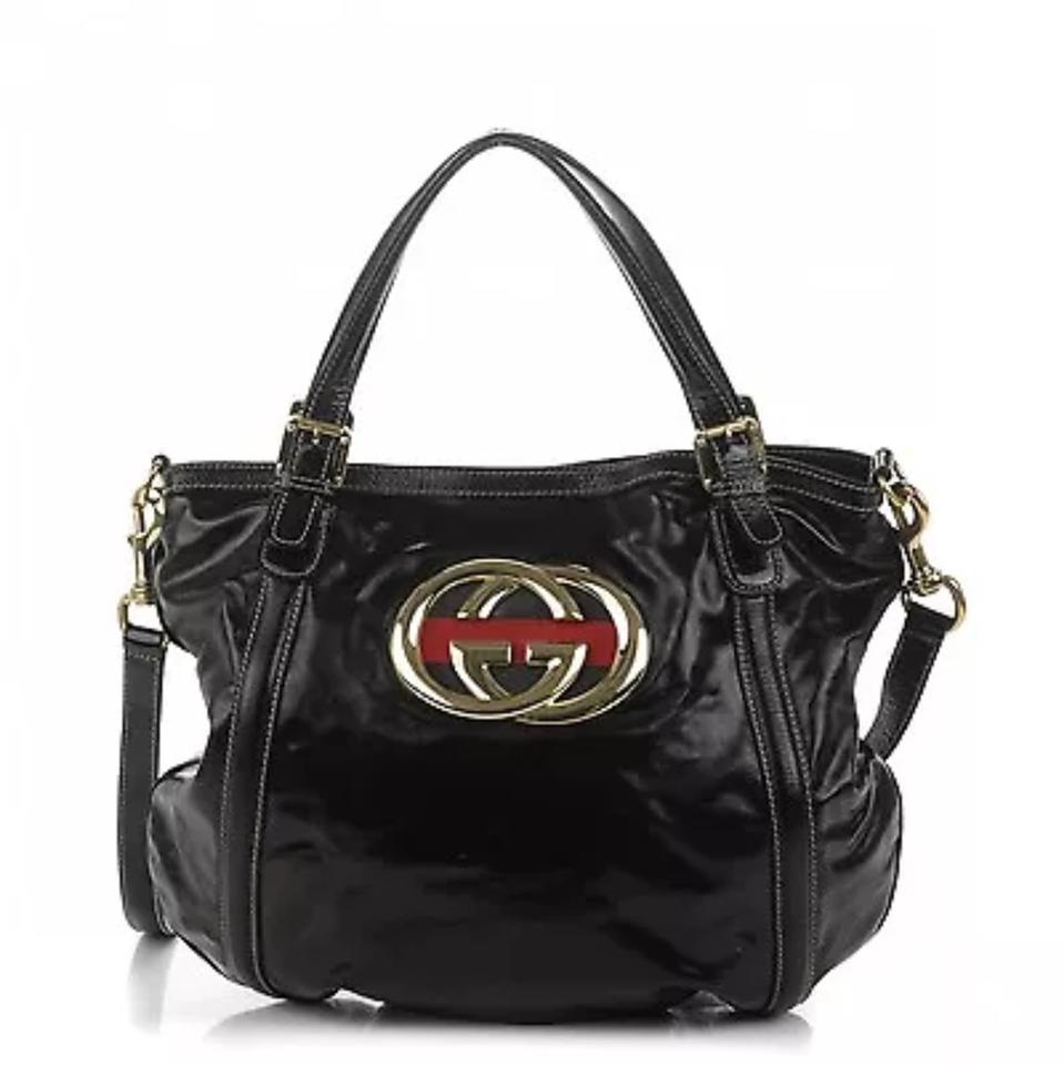 adc19e8732bb Gucci Britt Dialux Medium Black Leather Shoulder Bag - Tradesy