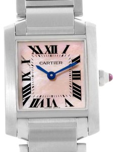 Cartier Cartier Tank Francaise Pink Mother of Pearl Dial Ladies Watch W51028Q3