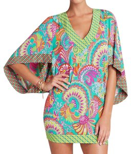 Trina Turk Festival Folkloric Knit Tunic Swim Cover Up