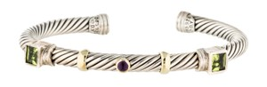 David Yurman 14K yellow gold, sterling silver David Yurman Renaissance cuff
