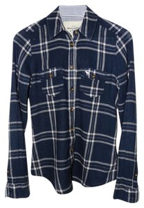 Abercrombie & Fitch Button Down Shirt Navy