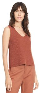 Vince Knit Ribbed Cotton Top Fig