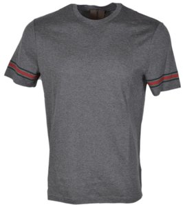 Gucci Shirt Men's Casual T Shirt Grey, Red, Green
