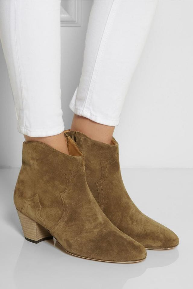 Isabel Marant Brown Dicker Etoile The Dicker Brown Suede Ankle Boots/Booties 6791f0
