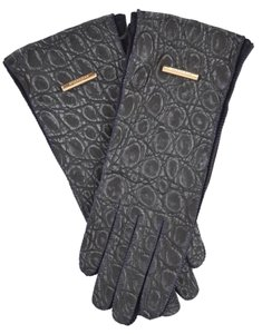 Burberry Prorsum New Burberry Prorsum $1,295 Ink Blue Caiman Alligator Gloves Size 6.5
