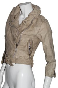 DOMA beige Leather Jacket