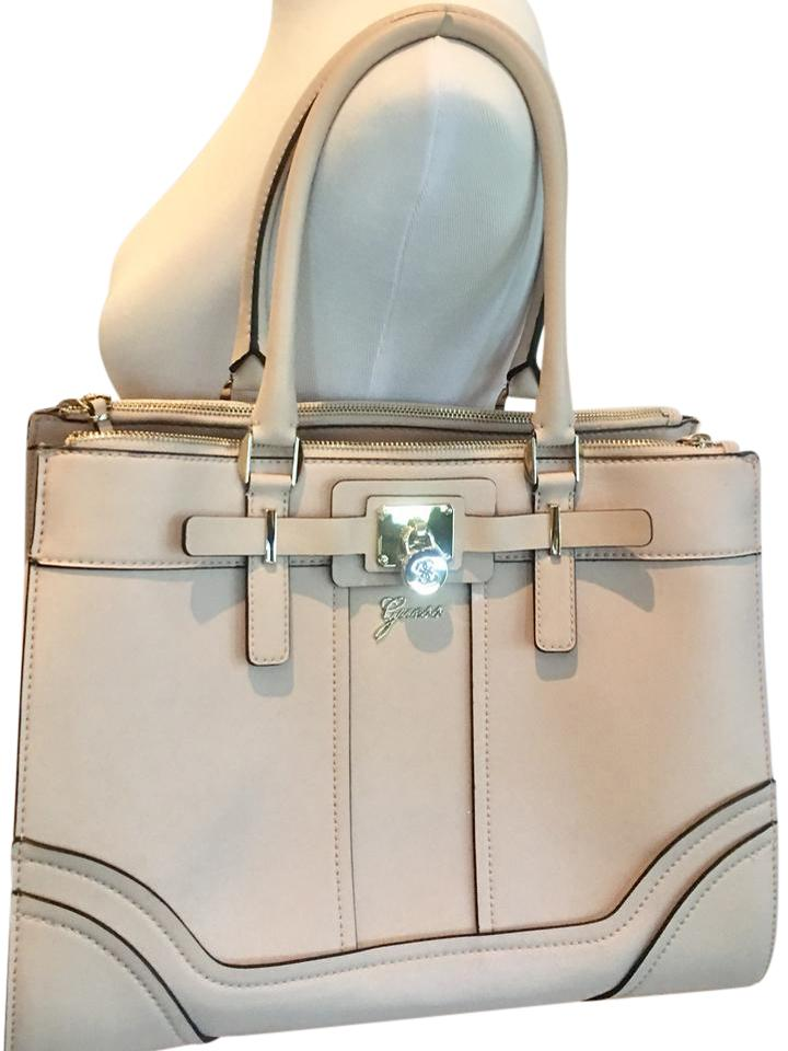 a436255f4329 Guess Large Blush Shoulder Pale Rose Pink Faux Leather Tote - Tradesy