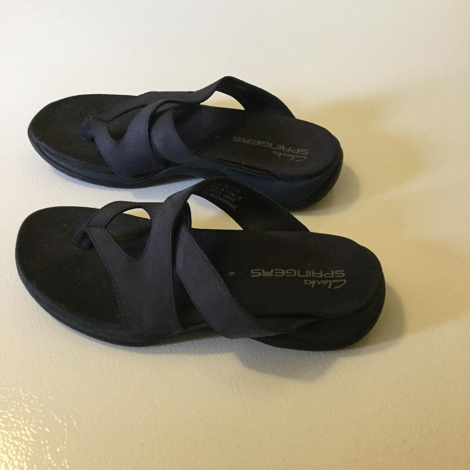 48853b6a9c41 Clarks Navy Springers Sandals Size US 6 Regular (M