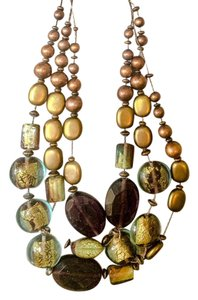 Coldwater Creek glass and bead necklace