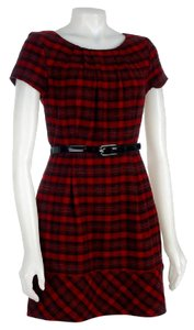 Max and Cleo Plaid Office Shift Dress