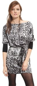 Robert Rodriguez Cheetah Leopard Silk Dress