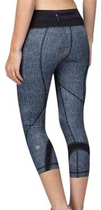 Lululemon Lululemon Run Inspire Crop Burlap Black Grey Dune Luxtreme Legging