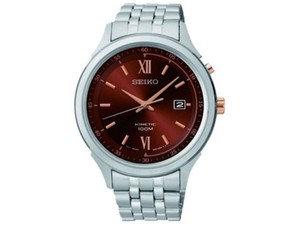 Seiko SKA661 Men's Silver Analog Watch With Brown Dial