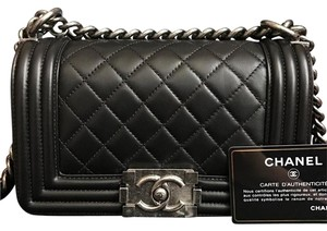 3a0af0ec14e9 Added to Shopping Bag. Chanel Boy Small Caviar Cc Lambskin Shoulder Bag. Chanel  Boy Quilted Small Black ...