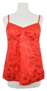 Marc by Marc Jacobs Hearts Silk Bow Top Red