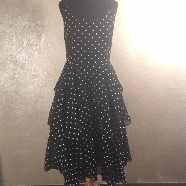 Item - Black and White Polkadots 4163478 Long Cocktail Dress Size 6 (S)