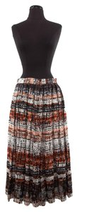 Proenza Schouler Proenza Multi-color Pleated Skirt Red Black Grey White