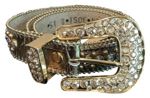 B.B. Simon Gorgeous Gold Swarovski BB Simon Western Belt