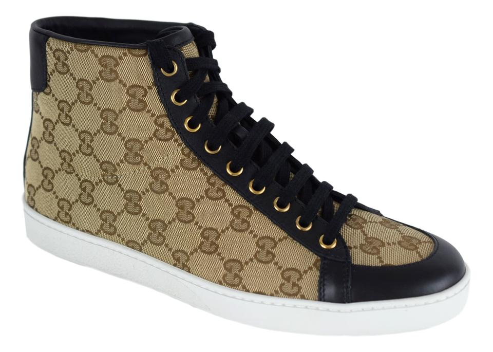 e70732c61 Gucci High Top Sneakers Beige/Black Athletic Image 10. 1234567891011