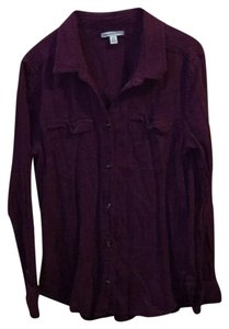 American Eagle Outfitters Button Down Shirt plum