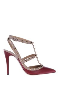 Valentino Leather Rockstud Ruby Pumps