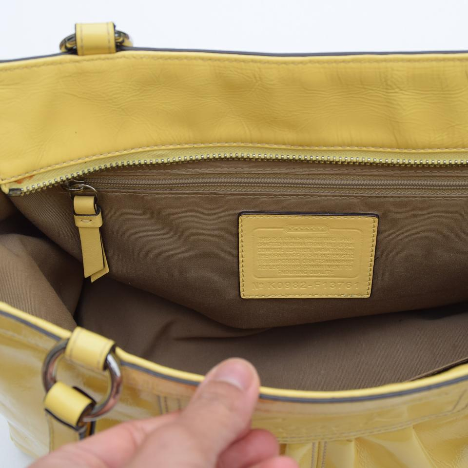 21be541bfdd5 Coach Patent Butter Yellow Leather Tote - Tradesy