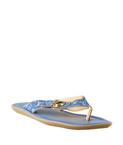 Louis Vuitton Denim Blue Sandals
