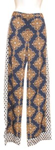 The Limited Tall Scarf Print Modern Baroque Trouser Pants Blue