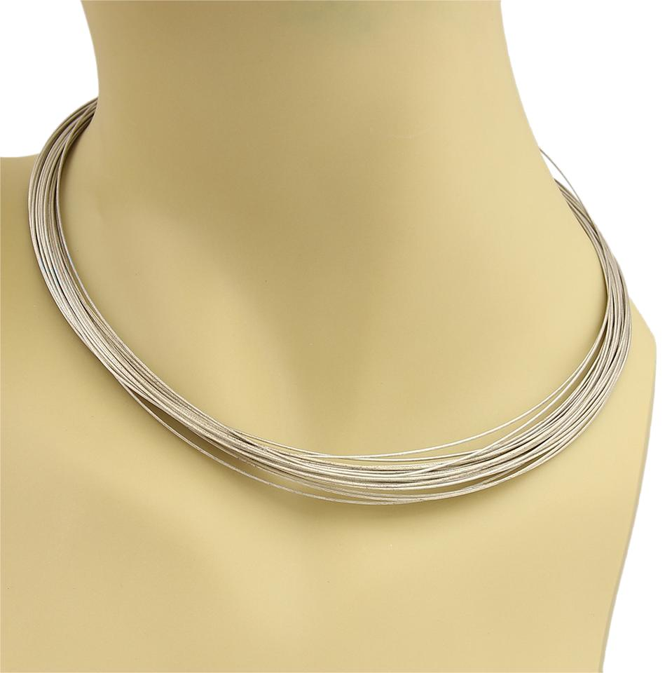 666511ce7 Tiffany & Co. 18533 - Germany Sterling Silver Multi Wire Strand Necklace  Image 0 ...