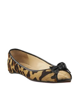Christian Louboutin Pony Hair Animal Print Flats