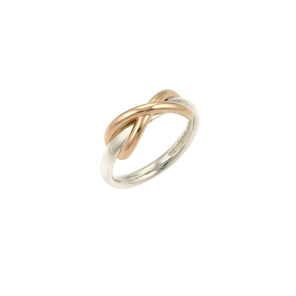 4a5e3f4d5 Tiffany & Co. Paloma Picasso Infinity 18k Rose Gold & Sterling Ring Image 0  ...