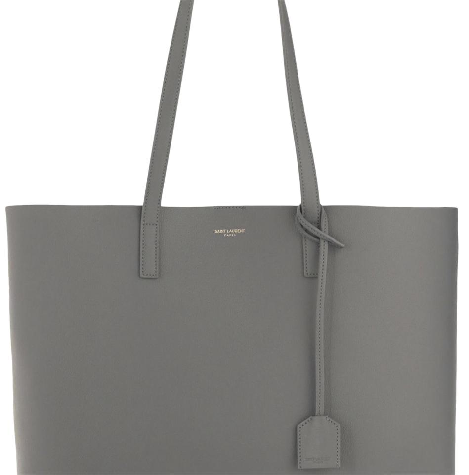 f3f867d6ab3 Saint Laurent Shopping Large Fog Grey Leather Tote - Tradesy