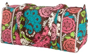 Vera Bradley Blue Pink Green Floral Travel Bag