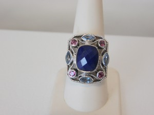 Nicky Butler Nicky Butler 1.60ctw Lapis and Multigemstone Ring 9
