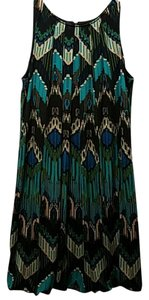 AGB short dress Black/turquoise multicolor on Tradesy