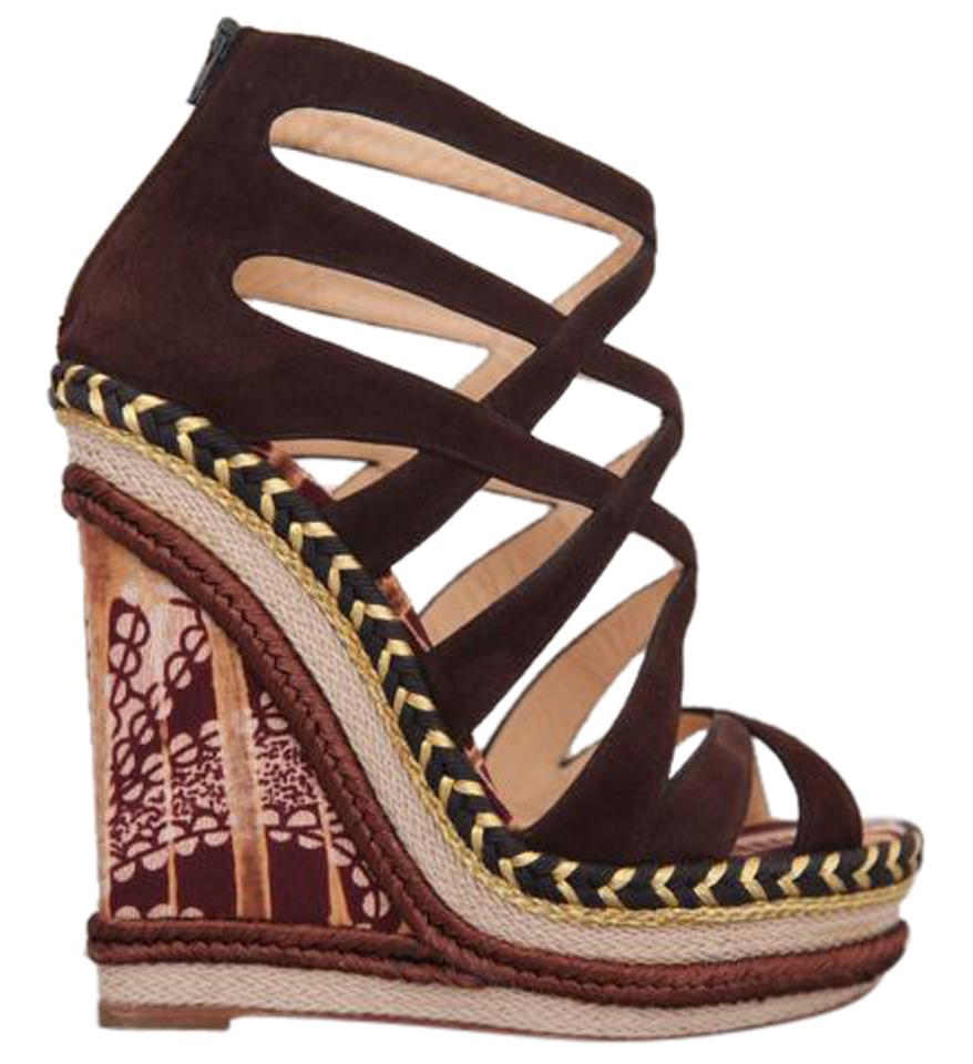 a47f2fd2776d Christian Louboutin High Heels Pigalle Slingback Brown Sandals Image 0 ...