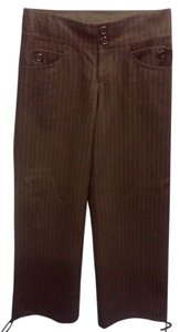 H&M Trouser Pants brown with blue pinstripe