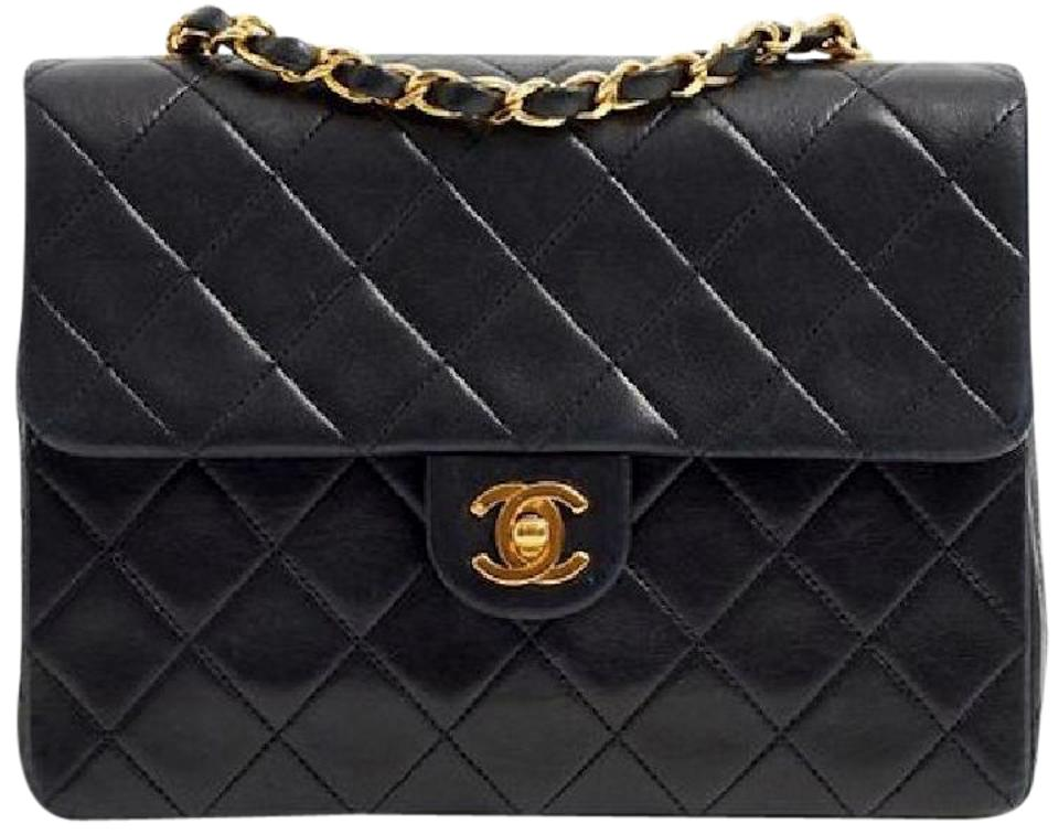 e68699e74049 Chanel Mini Square Cc Logo Classic Flap Lambskin Leather Shoulder Bag ...