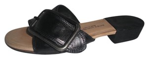 Dries van Noten Leather Buckle Made In Italy Black Mules