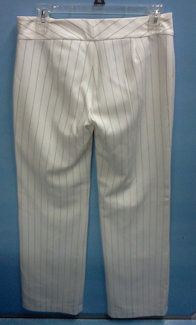 Self Esteem Trouser Pants white withbrown pinstripes