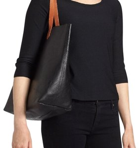 Madewell Tote in Black/Tan straps
