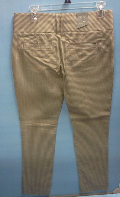Old Navy Trouser Pants Tan with white pinstripe