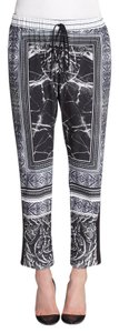Clover Canyon Marble Print Chic Skinny Pants Black
