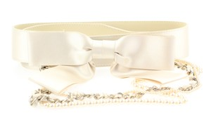 Chanel Champagne Ribbon Pearl Belt