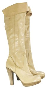 Carlos Santana Intrique Knee High Leather Tall Date Night Beige Boots