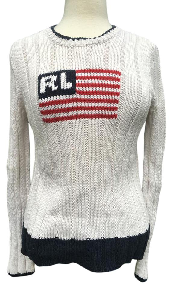 47fa8b69db42 Polo Ralph Lauren Jeans Co Erican Flag And Stripe Longsleeve Sweater Image  0 ...
