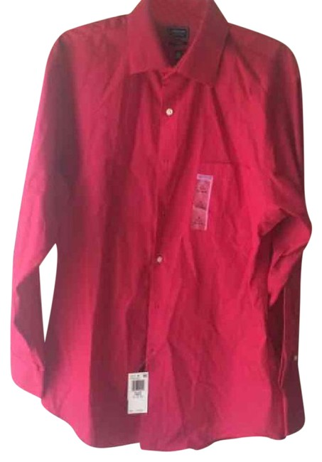 Item - Red Mens 32/33 Shirt Button-down Top Size OS (one size)
