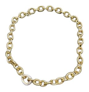 in gold necklace dia product designers chains oval zoom plated link diaz jane