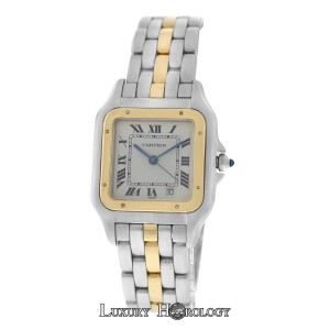 Cartier Mint Ladies Midsize Cartier Panthere 110000R One Row 18K Gold 26mm
